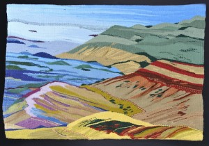 Canyon tapestry by Doris Florig, artist-in-residence at the Teton Science Schools. Image courtesy of the artist.