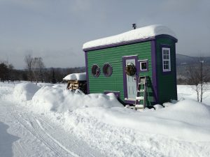 Murphy Robinson lives in a 72-square-foot tiny home in Vermont. Courtesy Murphy Robinson.