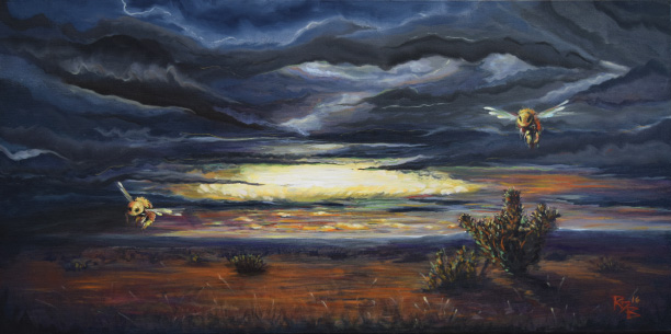 """""""Bee Ranching,"""" story by Kit Freedman, painting by Robert Bryans"""