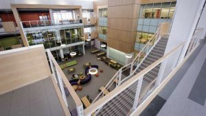 The Michael B. Enzi STEM building is one of several new buildings on the UW campus.
