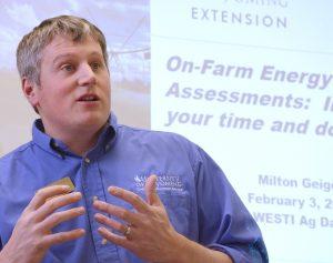 Milton Geiger, Poudre Valley REA alternative energy administrator.