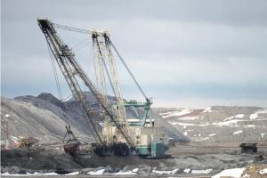 Coal mining in Wyoming's Powder River Basin.