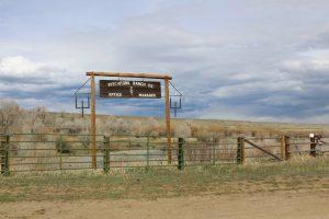 Pitchfork Ranch Co. sign