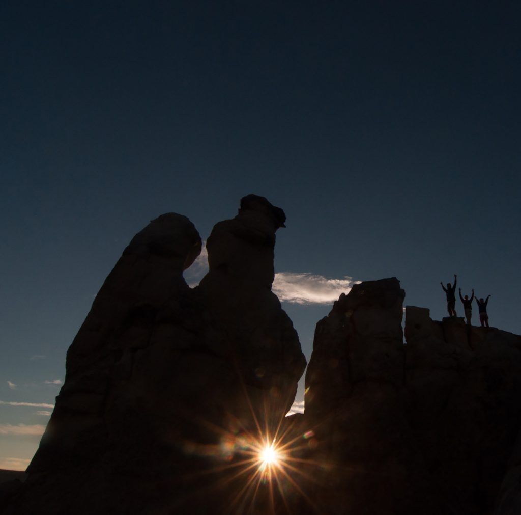 National monument picture at sunset