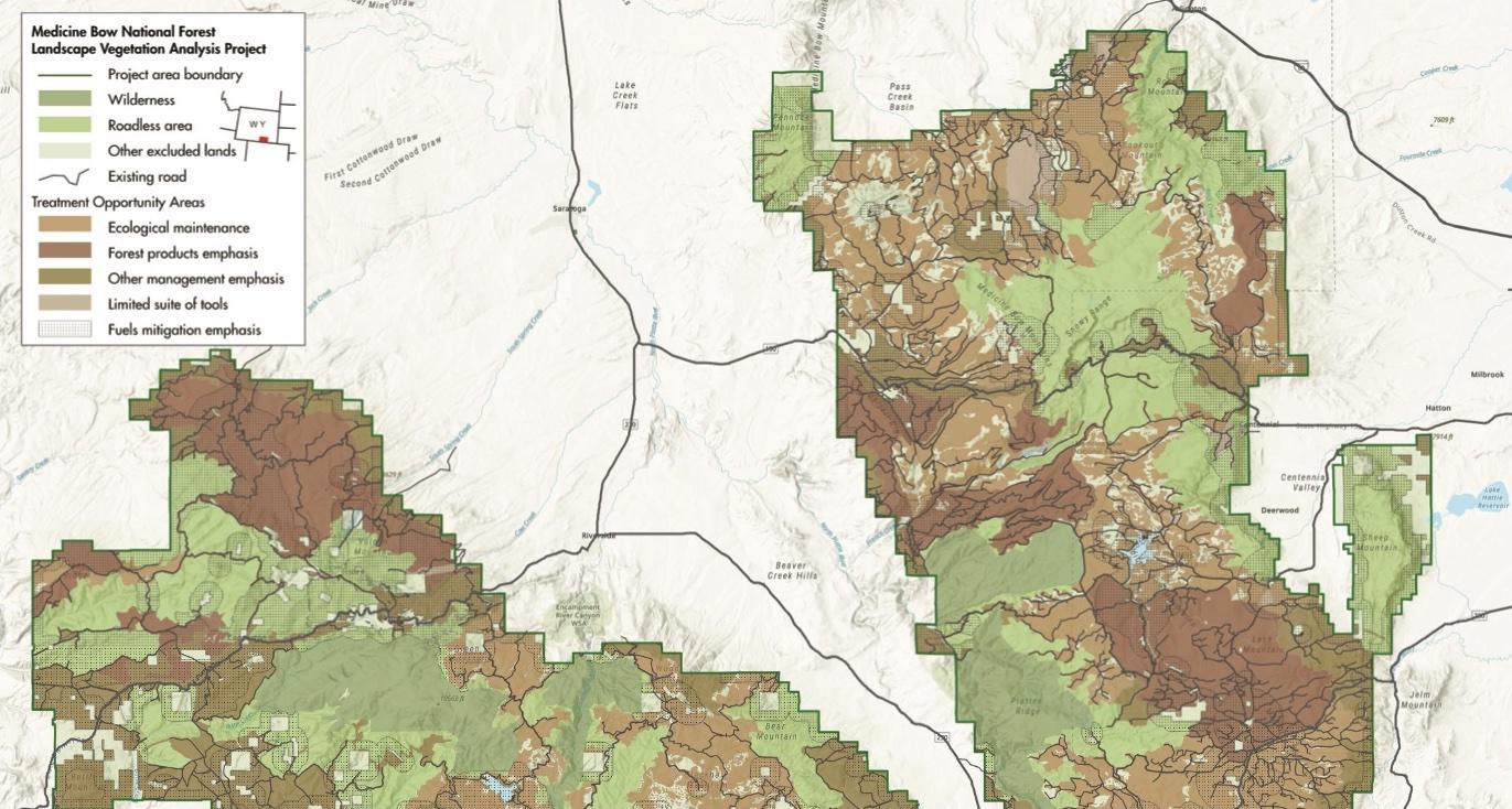 Medicine Bow Landscape Vegetation Analysis (LaVA) Project Map